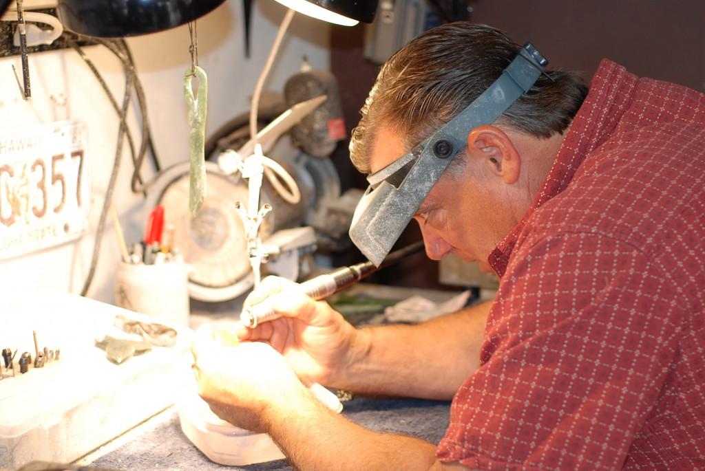 Drew Arnold Carving Big Sur Jade
