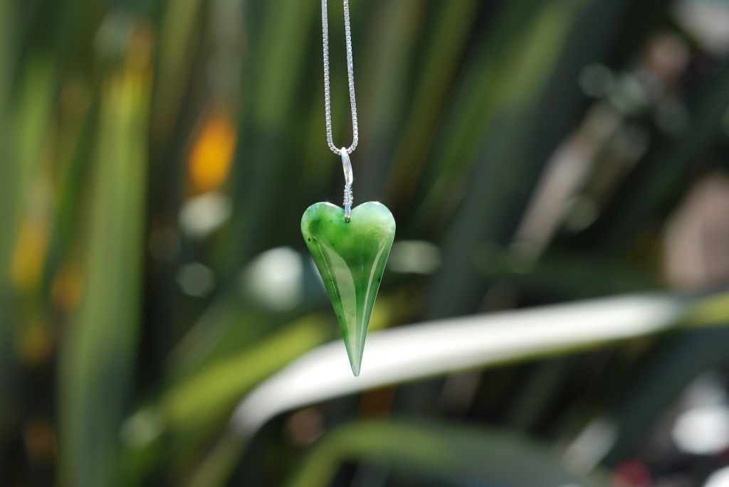 "Custom Order hand carved Heart from an incredible piece of ""Snow"" Jade."