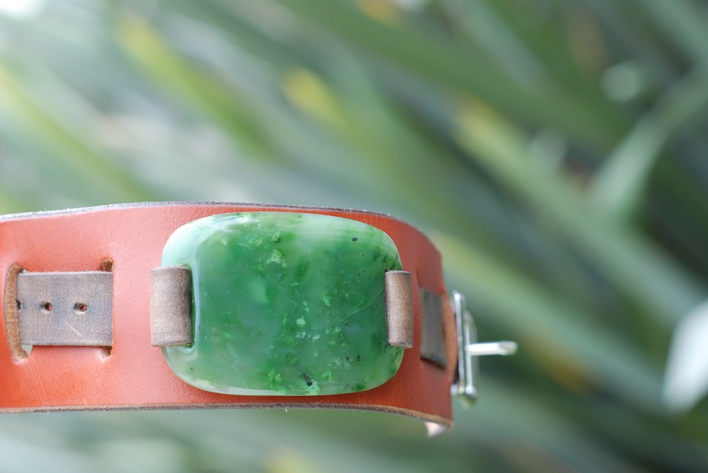 Oceans Art Jade Bracelet, Leather 9-11-2012 007