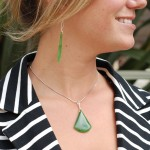 "Beautiful Pendant/Earring set crafted from rare Emerald Siberian ""Cats Eye"" Jade on Sterling Silver"